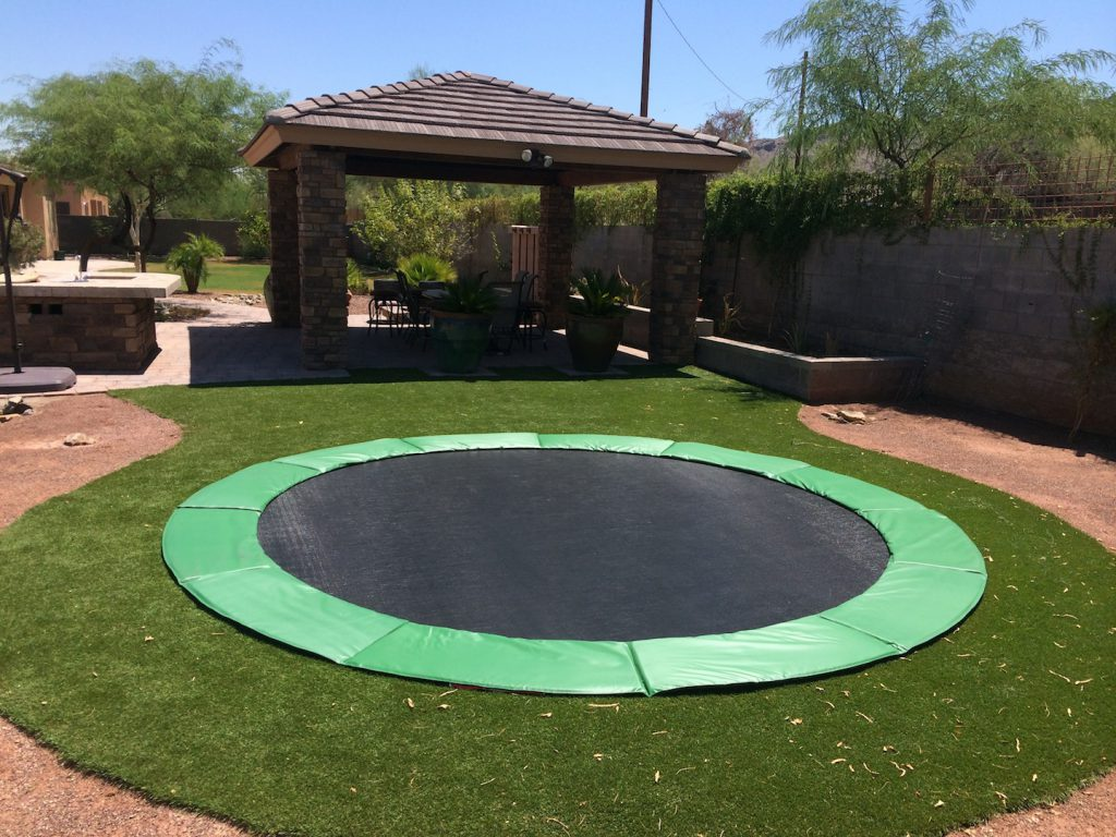Aesthetic benefits for inground trampolines