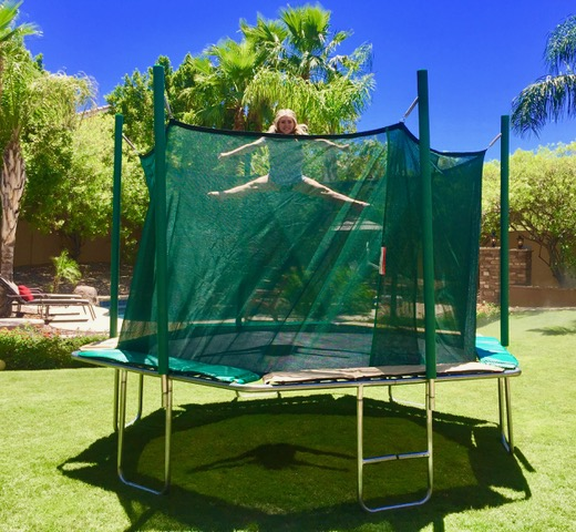 invigorate yourself on a trampoline