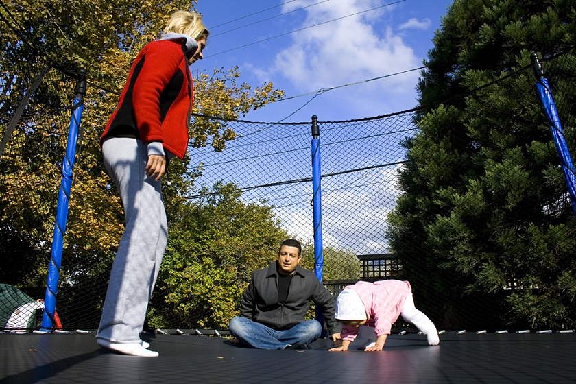 Trampolines Offer Family Fun Time